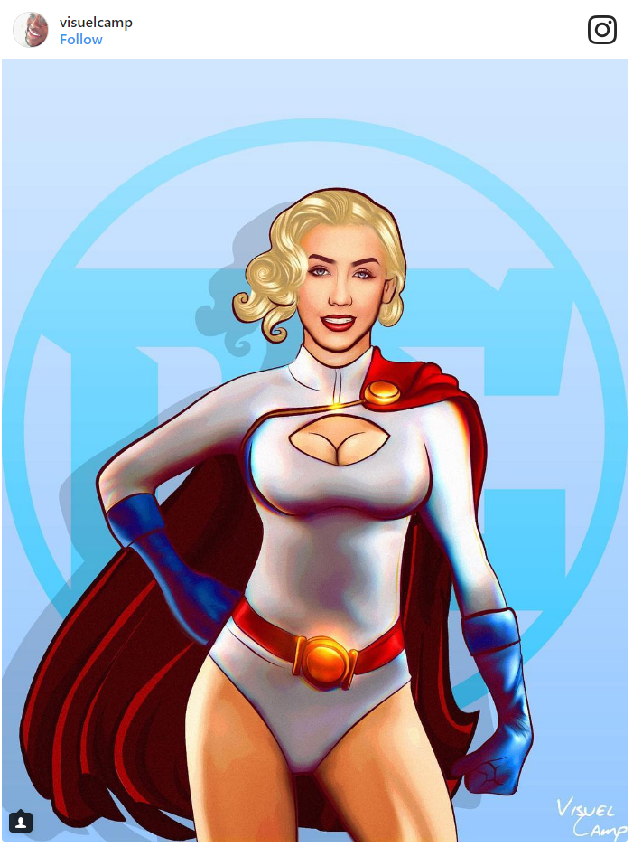 18. Christina Aguilera as Power Girl