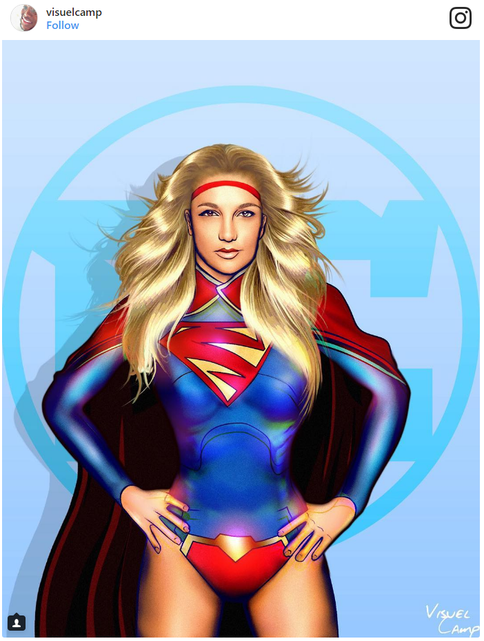 12. Britney Spears as Supergirl