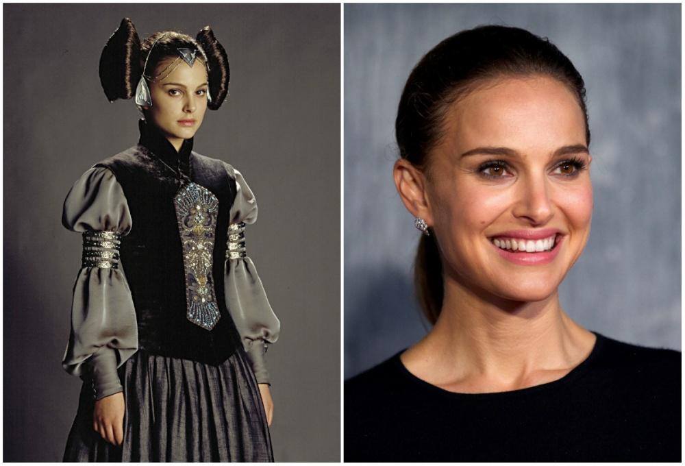 Natalie Portman (Padmé Amidala), 2003 and 2015