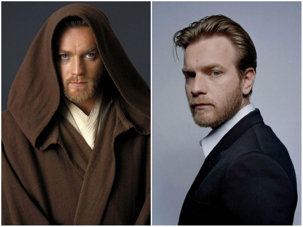 Ewan McGregor (Young Obi-Wan Kenobi), 2005 and 2015