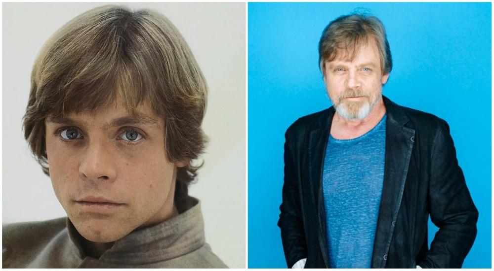 Mark Hamill (Luke Skywalker), 1980 and 2015