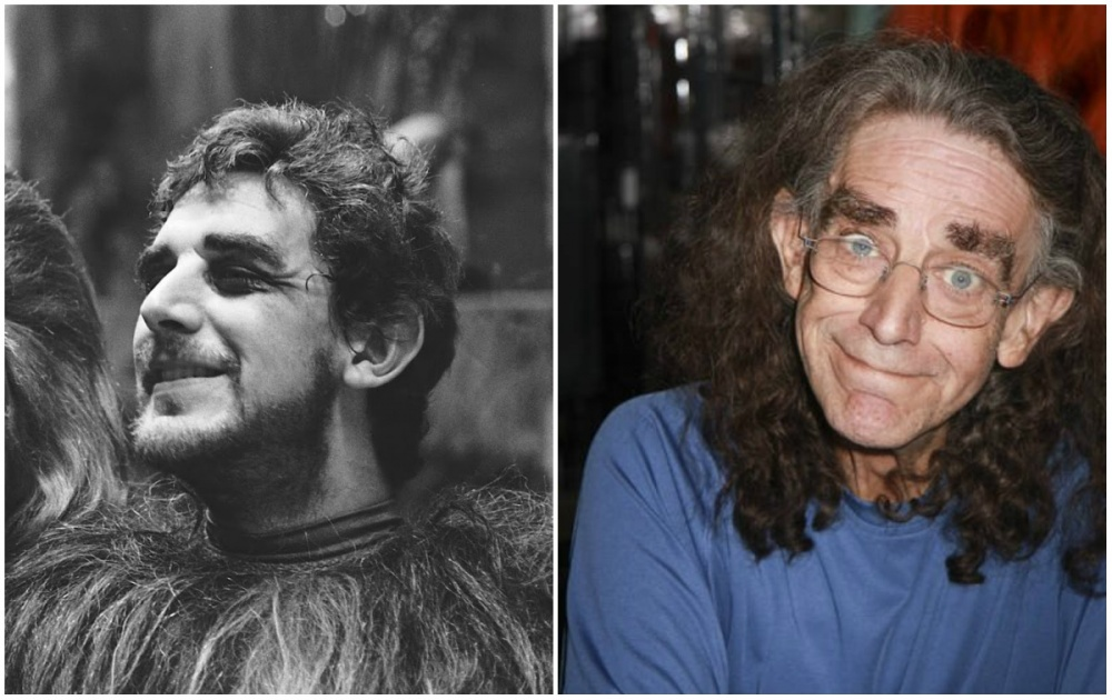 Peter Mayhew (Chewbacca), 1977 and 2015