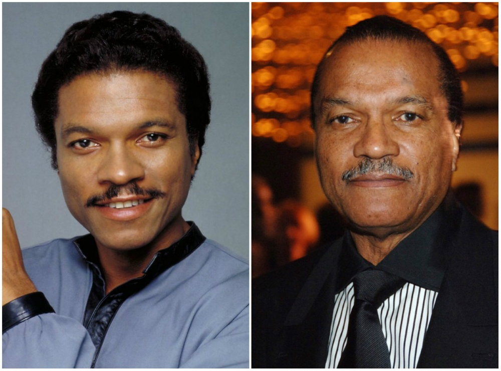 Billy Dee Williams (Lando Calrissian), 1980 and 2014