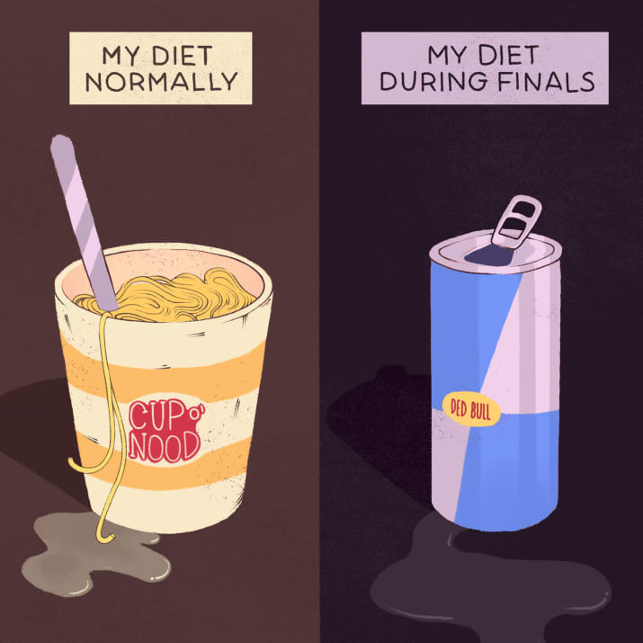 5. Your diet is pretty questionable when you're at university.