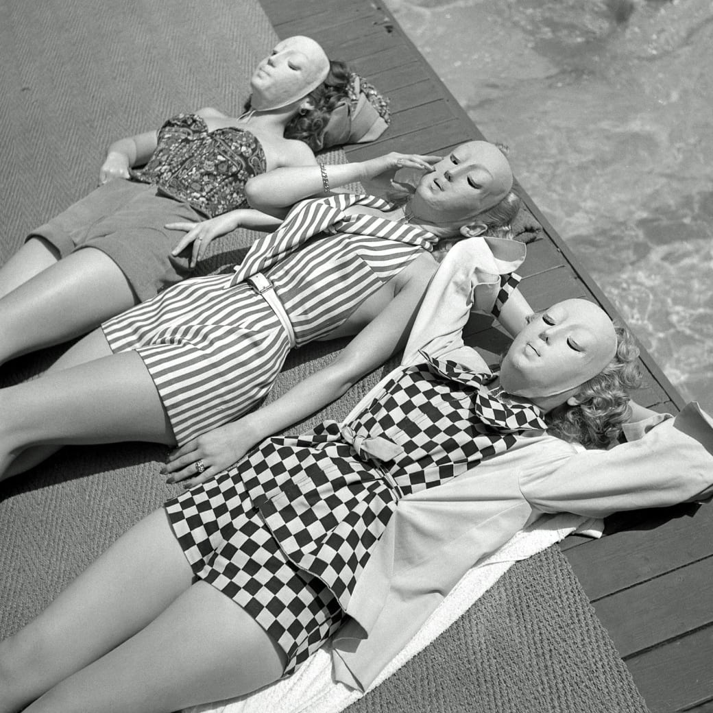 19. And anti-tanning masks, circa 1950: