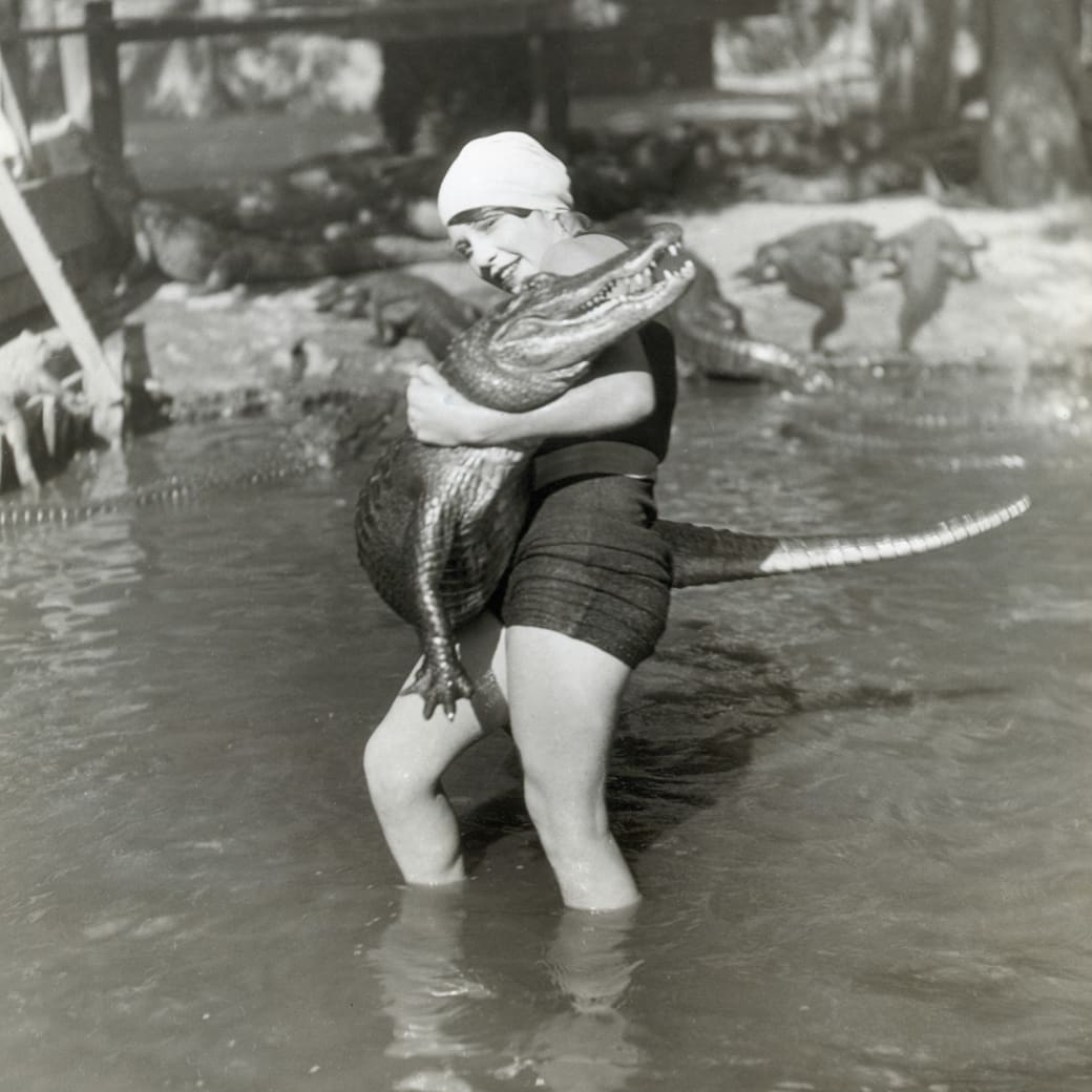 7. Alligator wrestling, 1939: