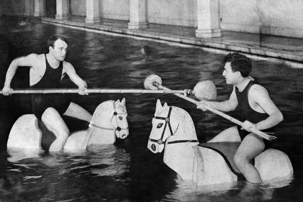 9. And water jousting, 1907: