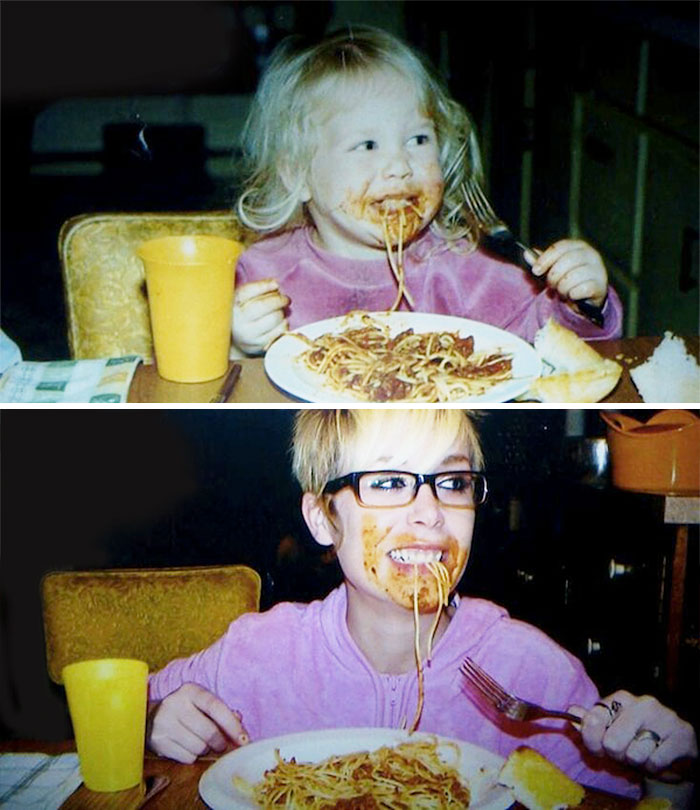 18. Loving Pasta Then And Now
