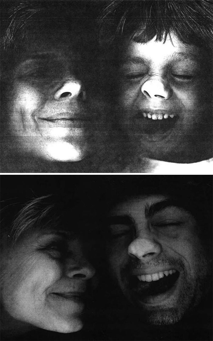 11. My Son And I Planted Our Faces On A Copier, Then And Now