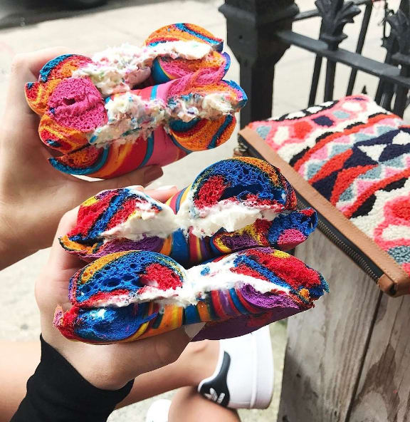 14. When rainbow funfetti bagels suddenly became a normal thing to eat.