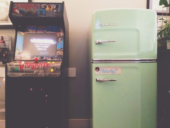 20. When this DERMATOLOGIST'S office featured an arcade game and retro fridge in the waiting room.
