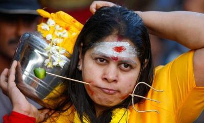 Thaipusam festival piercings