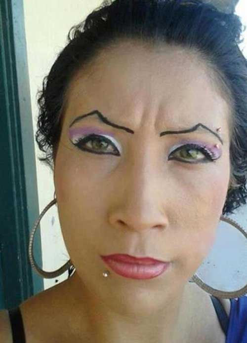 The mountain eyebrow style