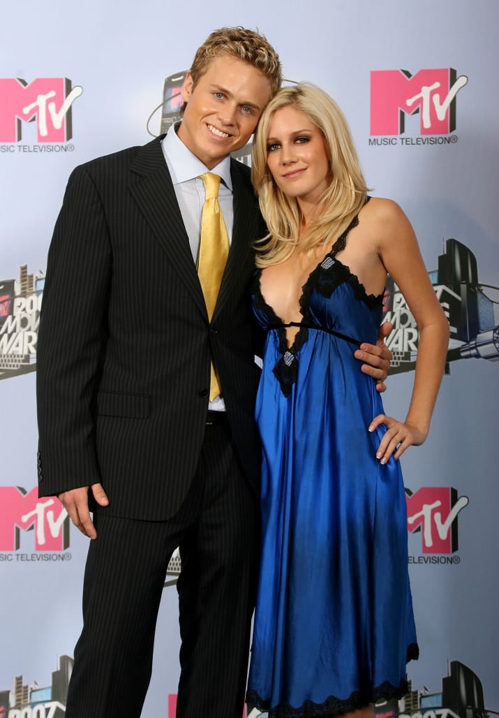 11. ...and Spencer Pratt would rock a slightly oversized pinstripe suit on the red carpet with his better half Heidi Montag.