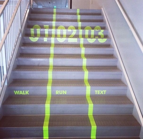 #12 Hate Getting Stuck Behind Slow People On The Stairs? My School Just Put These In Everywhere On Campus
