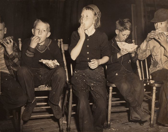 #8 My Mom Winning The Pie Eating Contest By Beating All The Boys, Around 1950