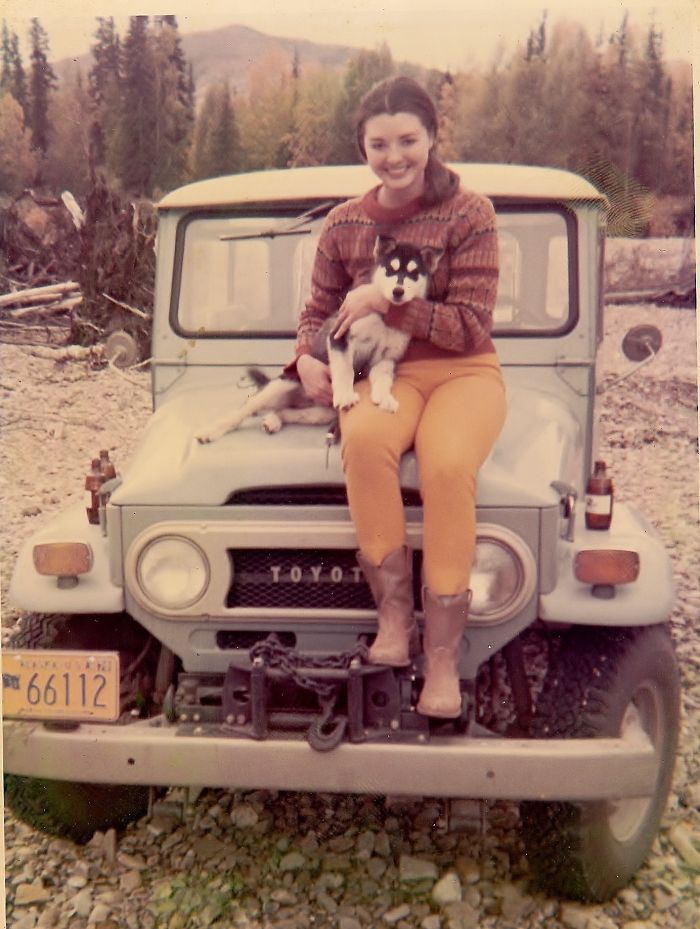 #2 My Mom When She Lived In Alaska With Her Husky Puppy, Okie