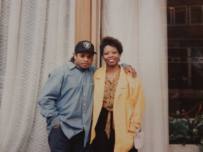 #13 My Mom Posing With Eazy-e Outside Of A London Hotel In The Late 80's