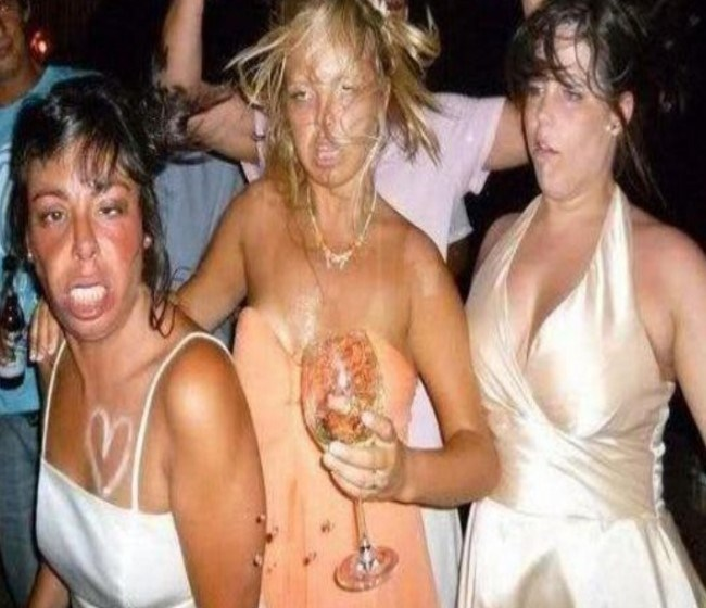 It looks like these girls really partied their faces off.