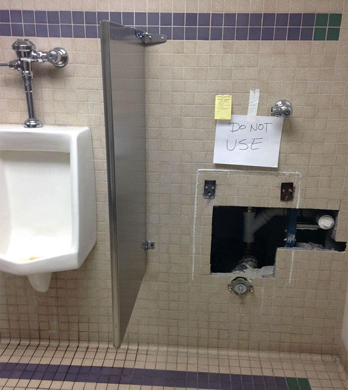 14. Yeah, the flush is broken ^^