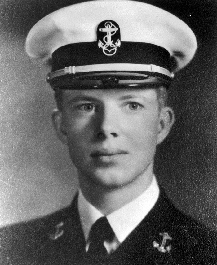 #9 Jimmy Carter (18 Years Old) Jimmy Carter cuts very much a dashing figure as he represents his country in military service.